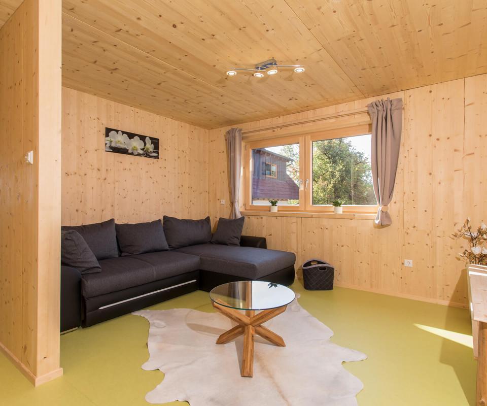 Das Wohnzimmer im Saunaloft